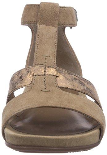 Sandalias de Grau para Gris Taupe Suede mujer cuero Jana de 28104 vestir I65U5q