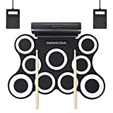 Mkxiaowei 9-pad Foldable Electronic Drum Set Hand-Rolled Electronic Drum Rack Drum Music Device