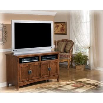 ashley furniture signature design cross island tv stand 50in with 3 cabinets and 2