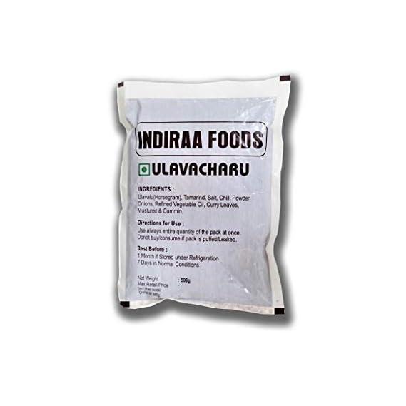 INDIRAA FOODS Ulavacharu (500 GMS, 1 kg) -Pack of 2