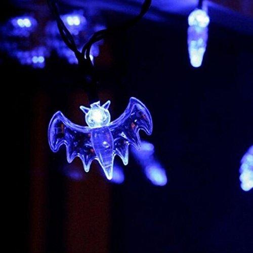 Halloween Bat Eyeshadow (20 LED Fairy String Lights 20 Bat Lights Halloween Decoration Ligh Halloween Home Garden Decoration)