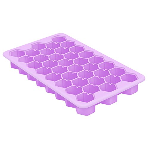- SH-US-ICP01 Ice Cube Tray with Lid, Food-Grade Silicone Material FDA Certified BPA-Free, Easy Maker Ice Block for Cocktail Whiskey, 1 Pack Ice Cube 38 Ice Blocks Purple