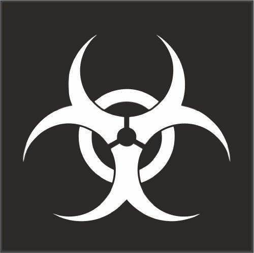 Biohazard Logo Helmet Motorcycle Decal Sticker M1 3