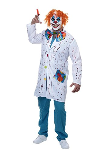 Sponch Patches the Evil Doctor Clown Adult Halloween Costume, (Deluxe Dr Evil Costume)