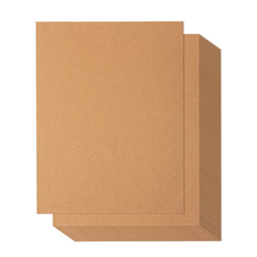 200 Pack Kraft Paper   Natural Kraft Paper   Letter Size   130 Gsm   8 5 X 11 Inches