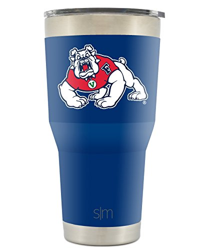 Simple Modern Fresno State 30oz Cruiser Tumbler - Vacuum Insulated Stainless Steel Travel Mug - California State University FS Bulldogs Tailgating Cup College Flask