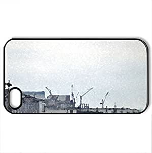 Chernobyl - Case Cover for iPhone 4 and 4s (Watercolor style, Black)