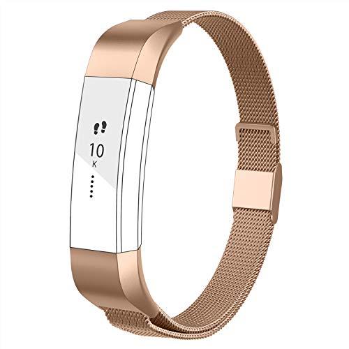 POY سازگار برای Fitbit Alta Bands ، بند فلزی استیل ضدزنگ بند با قفل آهنربای منحصر به فرد برای Fitbit Alta و Fitbit Alta HR