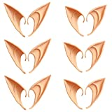 QHZHANG 6 Pairs Cosplay Masks Soft Pointed Ears Fairy Goblin Ears, 3 Pairs Long + 3 Pairs Short (Light Skin)