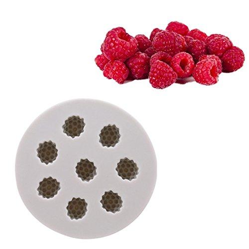 Dolland Strawberry Fruit Series Fondant Mold Soap Silicone Bakeware Chocolate Mold Cake Decoration Tools,2#B# ()