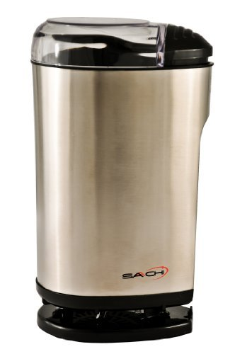 Saachi Coffee Grinder Rust Free Stainless Steel, Also Grinds Nuts and Spices in Seconds - A Very Popular Model