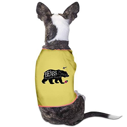 RSADGER Pet Clothing Bears Beets Battlestar Galactica Print Printed T Shirts Dogs Summer Vest Puppy Pet Shirt
