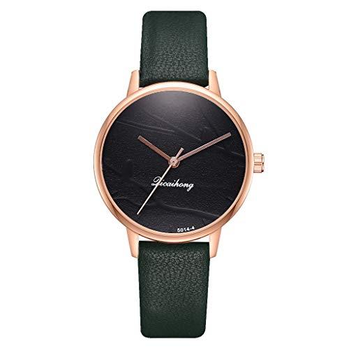 Qvwanle Women Watch Casual Fashion Simple Watch Branch Bird Dial Belt Quartz Watch Female Watch (Green)