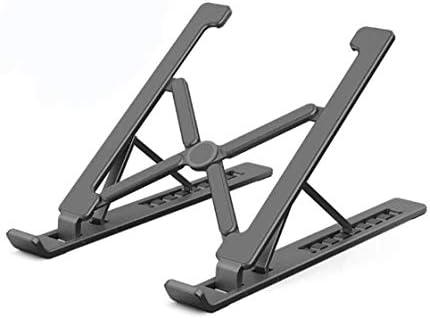デスクトップノートブックコンピュータスタンド、折り畳み式の高さ調節可能な、ポータブル人間工学、デスクトップノートブックコンピュータの上昇に適した換気スタンドタイプ (Color : Black)