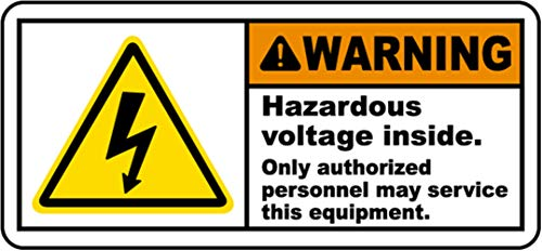 Danger 24 VAC Electrical Electrician Safety Sign Decal Sticker Label D369