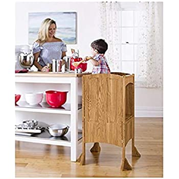 Amazon Com Guidecraft Classic Kitchen Helper Stool