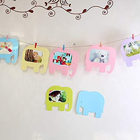 Vivona Cute Elephant Paper Photo Frame Hanging 5inch Marcos De Fotos Pared Porta Retrato Moldura Decorative