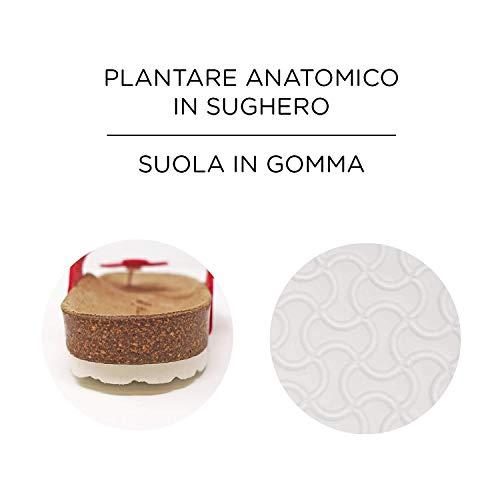 Infradito E Le Sughero Tinta Unita Anatomico Disponibile Fiore Donna In Rosso Manu Clare Con Plantare 5 Colori wFTq4S