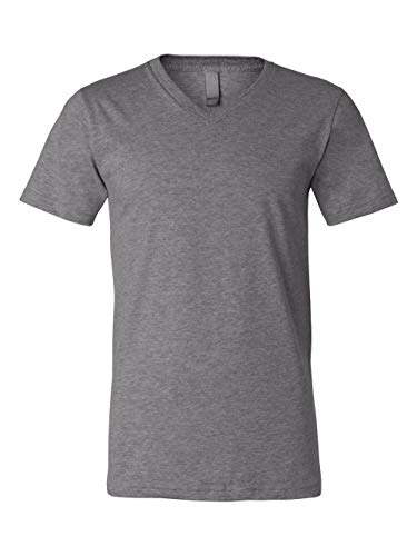 Canvas Delancey Short Sleeve V-Neck T-Shirt. 3005 - Small - Deep ()