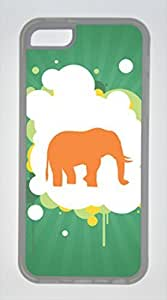 Iphone 5C TPU Rubber Shell Case Elephant Transparent Skin by Sallylotus by icecream design