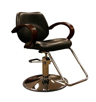 Delicieux Minerva Ashburn Hydraulic Salon Styling Chair W/ Wood Armrests