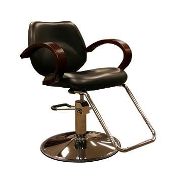 Beau Minerva Ashburn Hydraulic Salon Styling Chair W/ Wood Armrests