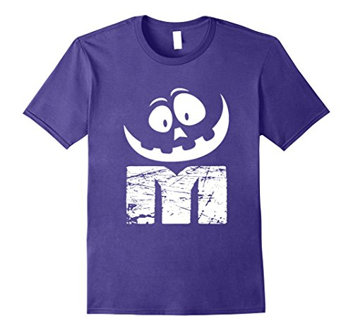 M&m Easy Costume (Mens OFFICIAL M Candy Easy Halloween Costumes T-shirt XL Purple)