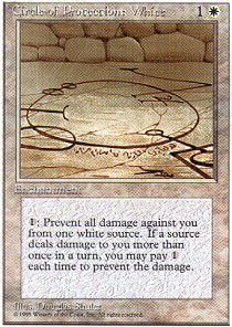 Magic: the Gathering - Circle of Protection: White - Fourth Edition