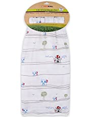 "Momeasy 40""47"" Pre-Washed Silky Soft Cotton Muslin Baby Blanket Made in Turkey"