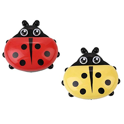 - RAYNAG Set of 2 Cute Ladybug Soap Dish with Drain, Kitchen & Bath Plastic Soap Saver Tray Case (Red+Yellow)