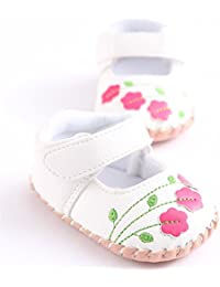 Infant Toddler Baby Girls Mary Jane Slippers Soft Sole PU Leather No-Slip Princess First Walkers Shoes