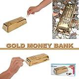 Kikkerland Gold Bar Coin Bank, 1 EA