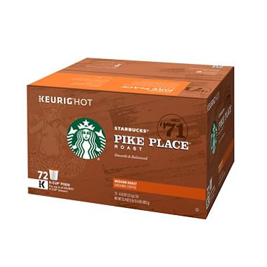 Starbucks Pike Place K-Cups (72 ct.) x2 by American Standart