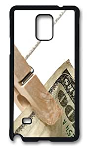 MOKSHOP Adorable Folder dollars Hard Case Protective Shell Cell Phone Cover For Samsung Galaxy Note 4 - PCB