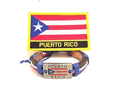 Puerto Rico Wristband & Puerto rican flag patch Boricua style (Rico Wristband)