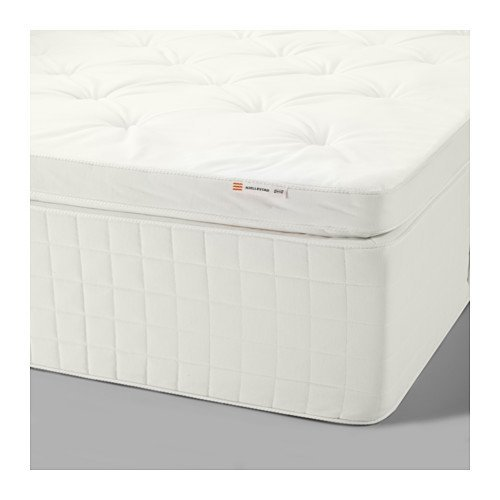 Ikea hjellestad pocket mattress queen size medium firm for Ikea queen size box spring