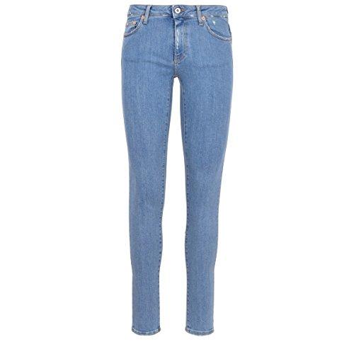 OFF-WHITE Femme OWYA003R183860097388 Bleu Coton Jeans