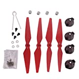 YouCute spare parts for mjx B2C B2W B2 Bugs 2w Bugs 2 RC Drone Blade Aluminum cap(Red large kit)