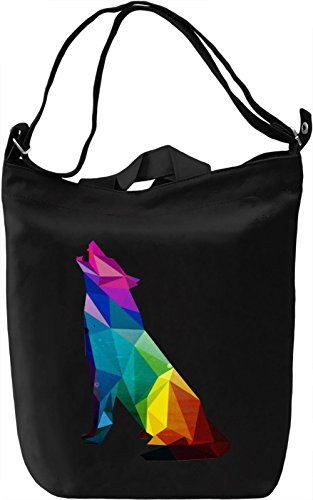 Wolf Borsa Giornaliera Canvas Canvas Day Bag| 100% Premium Cotton Canvas| DTG Printing|