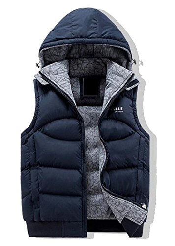 M amp;W Puffer amp;S Hooded Removable 1 Winter Men's Vest Jacket r5BrxWATnq