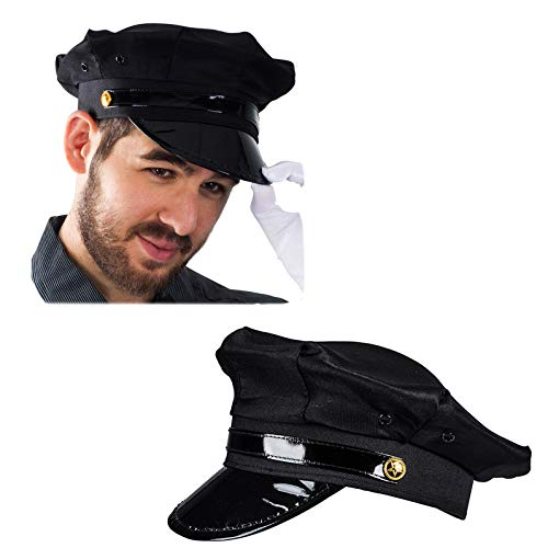 Funny Party Hats Chauffeur Hat - Limo Driver Hat - Police Hat - Costume Hats ()