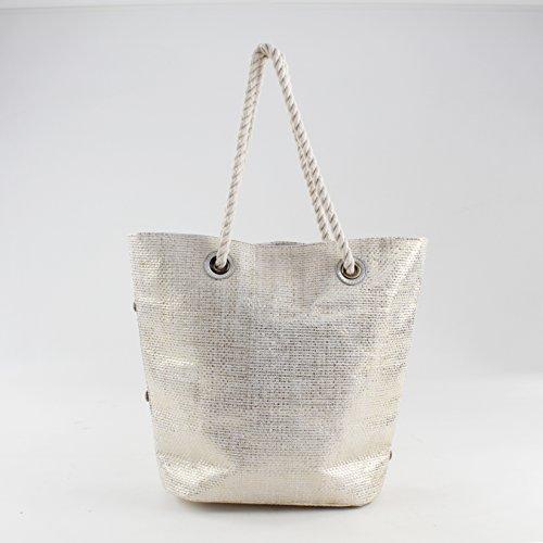 Para Plateado H Cm L Eferri X Shopper plata w 37x12x39 Mujer 0jv7002 qTwpxBE