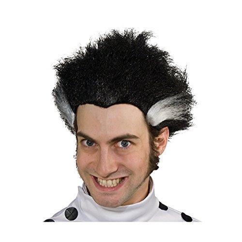[Black Wig With White Streaks] (Freakazoid Costume)