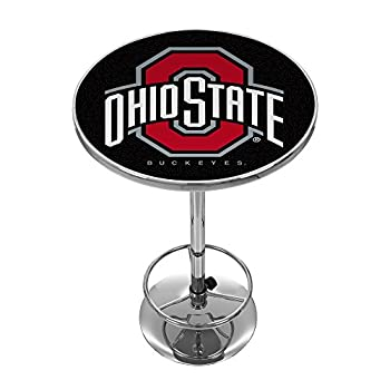 Image of Bar Tables NCAA Ohio State University Chrome Pub Table