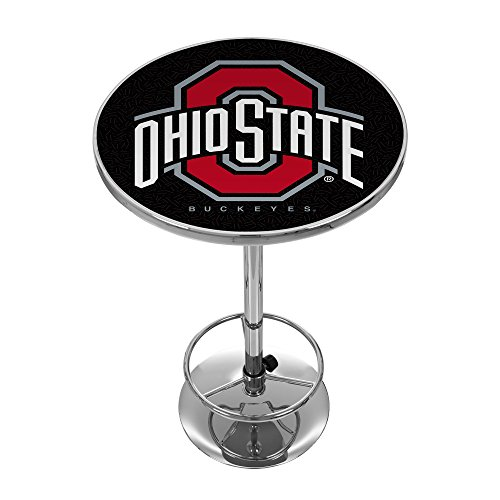 State Tailgate Table - NCAA Ohio State University Chrome Pub Table