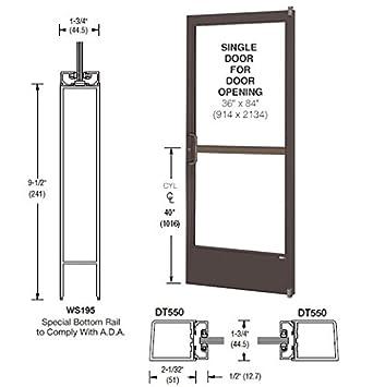 CRL U.S. Aluminum Bronze Anodized Single 36u0026quot; X 84u0026quot; 250 Narrow  Stile Door
