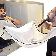 Beard Catcher Apron Beard Cape Bib and Beard Shaping Tool for Shaving Trim Shave Apron Bib
