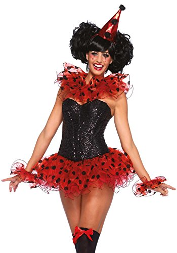 Disfraz De Bufon Halloween (Leg Avenue Women's Kit, Clown Red/Black, One)