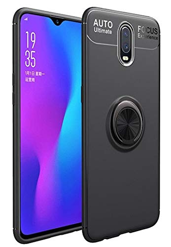 Bounceback ® Shock Proof Ring Stand Back Cover Case Designed for Oneplus 7 - Jet Black (B07TMND8DF) Amazon Price History, Amazon Price Tracker
