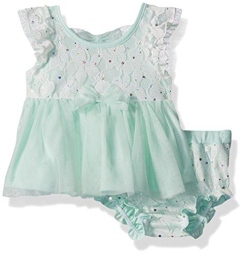 Disco Dot Diaper - Little Lass Baby Girls' 2 Pc Disco Dot Diaper Set, Mint, 24M